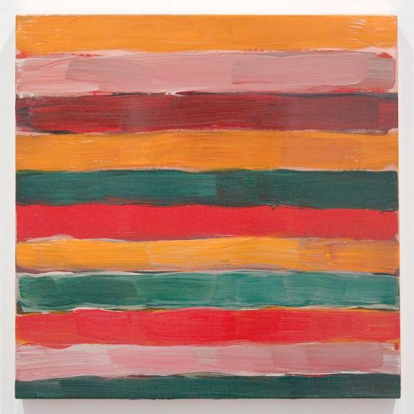 Sean Scully - Landline Pink - Olieverf op koper, 2016
