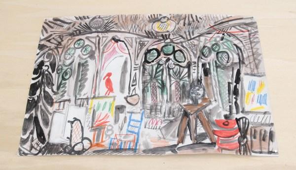 Marijn van Kreij - Untitled (Picasso, Le Carnet de la Cailfornie, 1955) - 27 tekeningen, 30x42cm Gouache, potlood en inkt op papier