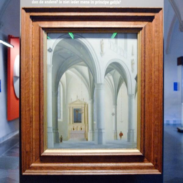Pieter Jansz Saenredam - Gezicht op een kapel in de Grote of Sint-Laurenskerk te Alkmaar - 1635