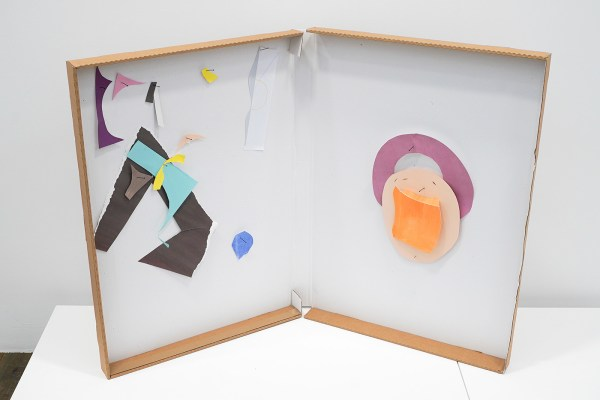 Paul Drissen - Alphabet A-O - 88x115x50cm Papier, gouache, acrylverf en stalen naalden in archiefdoos