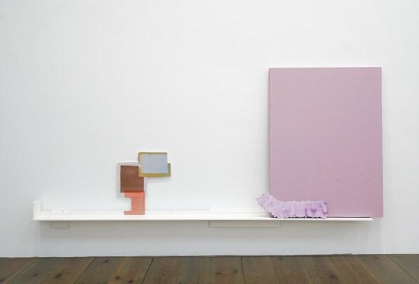 Paul Drissen - The Present, Present, Present - 82x185x11cm Hout, gesso, gouache, papier, stalen naalden