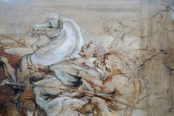 Peter Paul Rubens - Leeuwenjacht - Olieverf op paneel, 1615 (detail)