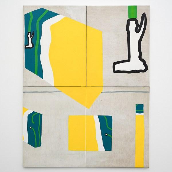 Raoul de Keyser - Oefeningen met eerste linnen doos - Acrylverf en dispersie op doek, 1967
