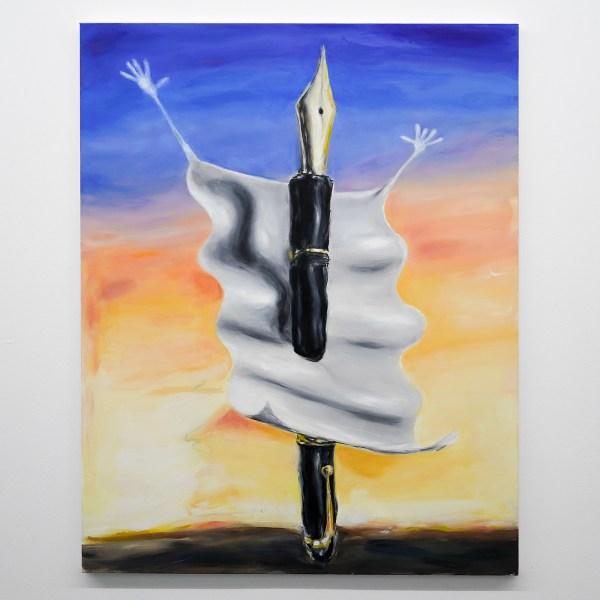 Micha Patiniott - Que Sera, Sera - 120x95cm Olieverf op polyester canvas