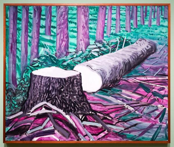 David Hockney - Gevelde Totem I - Olieverf op doek, 2009
