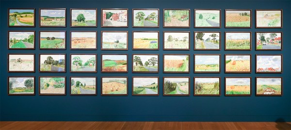 David Hockney - Midzomer, East Yorkshire - 36 aquarellen op papier, 2004