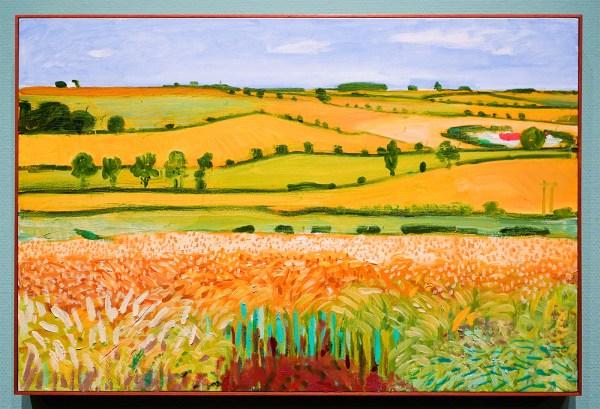 David Hockney - Uitzicht op Woldgate, 27 juli 2005 - Olieverf op doek