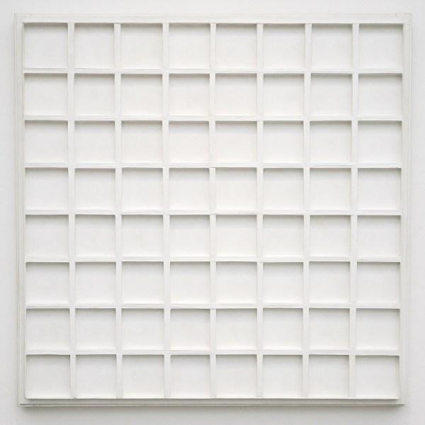 Jan Schoonhoven - r75-10 - Muurverf, papier en karton op paneel - Collectie AMC, Amsterdam UMC