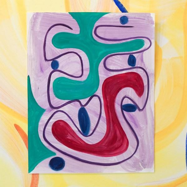 Pim Blokker - Untitled - 65x50cm Olieverf op papier
