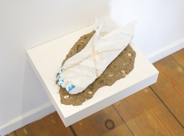 Christian Holstad - Foot - 10x30x13cm, Mixed-Media