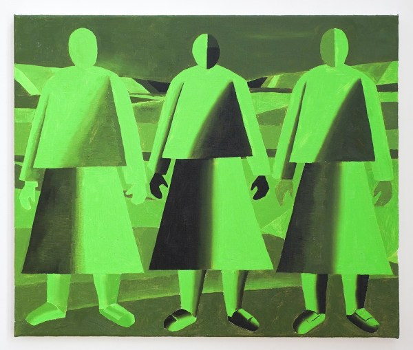 Dieter Durinck - Troika Of Tyranny (Kazimir Malevich, Girls in a Field, 1932) - 50x60cm Olieverf op canvas