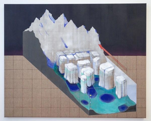 Raymond Barion - Glacier - 120x150cm Acrylverf op canvas
