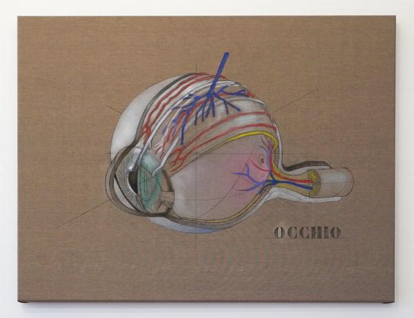 Raymond Barion - Ochio - 90x110cm Olieverf op canvas