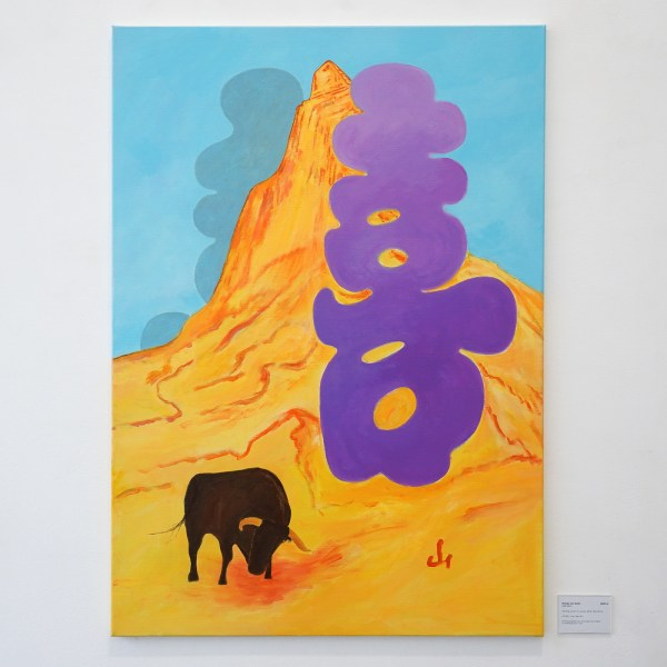 Woody van Amen - Fare Well - 120x85cm Acrylverf op canvas