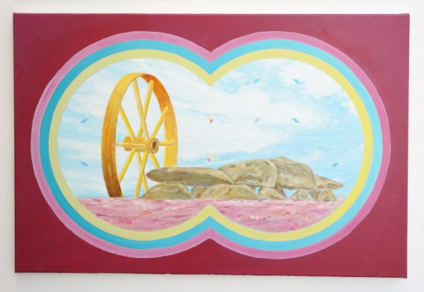 Woody van Amen - Wheel of Fortune - 60x90cm Acrylverf op canvas