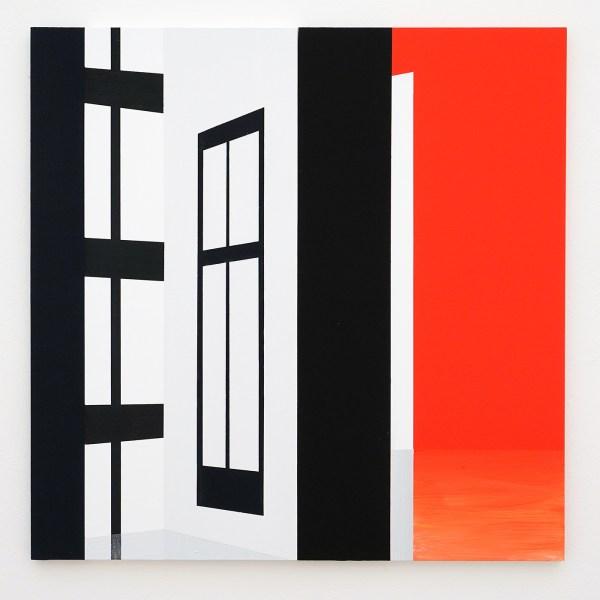 Narcisse Tordoir - Zonder Titel - 60x60x1,5cm Mixed media op houten paneel