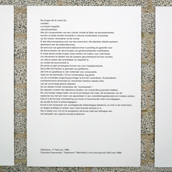 Charlotte Posenenske - Manifest - Gepubliceerd in Art International, 1968