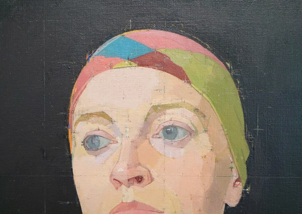 Euan Uglow - Head of Pat - Olieverf op doek op paneel, 1978-1983 (detail)