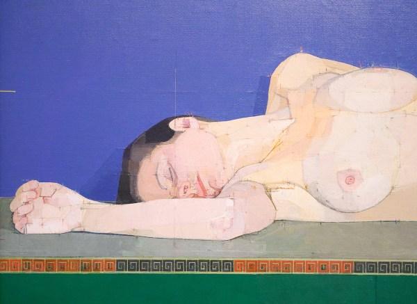 Euan Uglow - Root Five Nude - Olieverf op doek, 1974-1975 (detail)