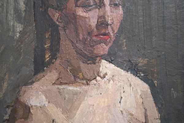 Euan Uglow - Seated Nude - Olieverf op doek, 1954 (detail)