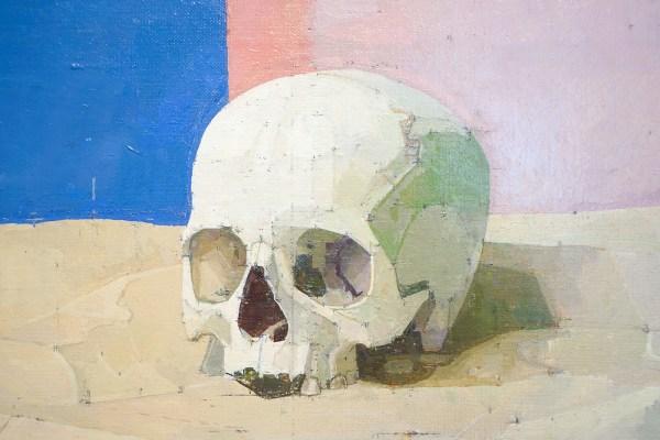 Euan Uglow - Skull - Olieverf op doek, 1994-1997 (detail)