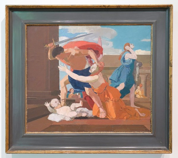 Euan Uglow - The Massacre of the Innocents (After Poussin) - Olieverf op doek op paneel, 1979-1981