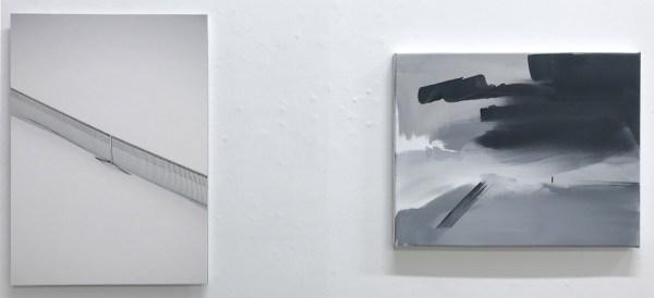 Joris Broekhoven - Snow Field - 56x40cm Archief print op dibond & Marie Reintjes - Dissapearer - 40x50cm, Acrylverf op linnen