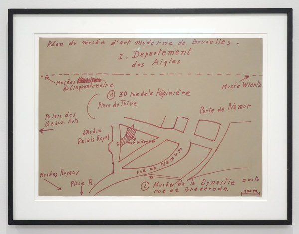 Marcel Broodthaers - Plan du Musee d'Art Moderne de Bruxelles - Viltstift op karton