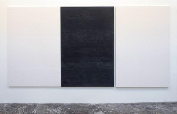 Willy de Sauter - Zonder Titel (drieluik) - 180x365x5cm maal drie Pigment en krijt op hout