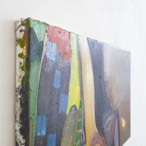 Julius Stibbe - Lief - 30x60cm Olieverf op canvas (detail)