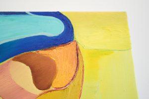 Julius Stibbe - No Title Yet - 100x90cm Olieverf en oilstick op canvas (detail)