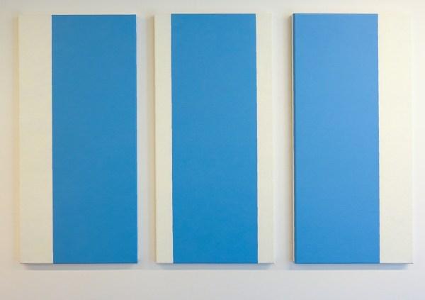 Ido Vunderink - Untitled, Zwischenraumgespenster #6 - 3 maal 75x35cm Olieverf op canvas