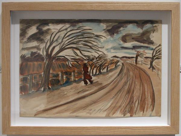 Oliver Kilbourn - Windy Day - 34x46cm Waterverf op papier