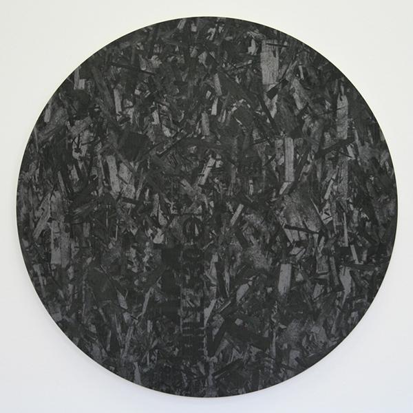 Adam McEwen - Untitled - 102cm Grafiet op aluminium