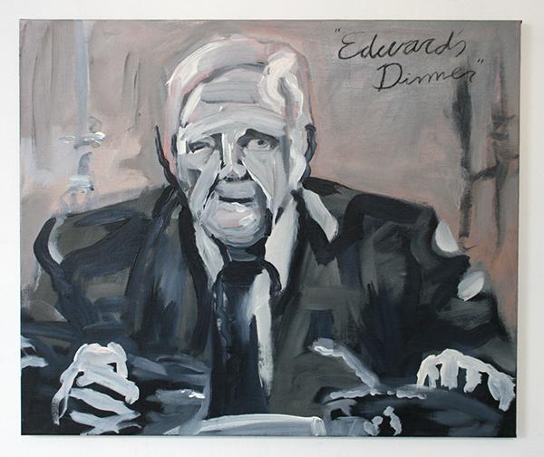 Alle Jong - Edwards Dinner - 75x95cm Acrylverf op canvas