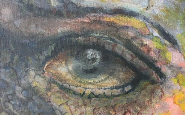 Alle Jong - Self Portrait - 160x200cm Acrylverf op canvas (detail)