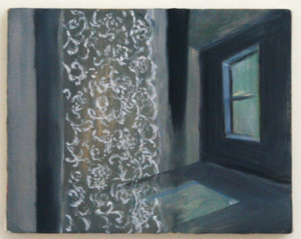 An Hoang - Lace Curtian - 20x26cm Olieverf op canvas