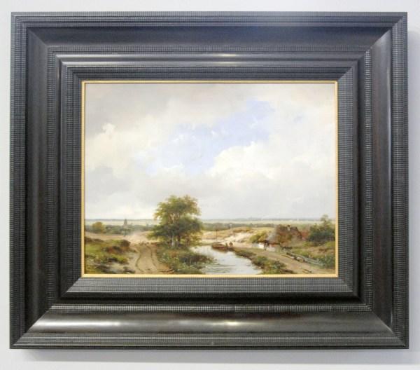 Andreas Schelfhout - Duinslandschap met zicht op Haarlem - Olieverf op paneel