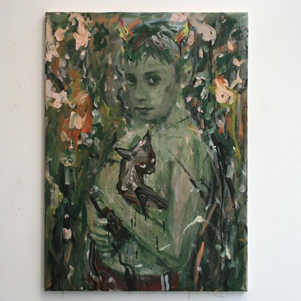 Andrej Dubravsky - Untitled 001 - 80x110cm Acrylverf op linnen