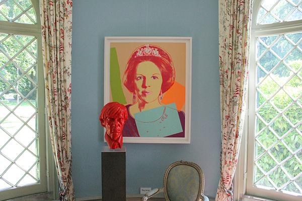 Andy Warhol en buste van Warhol