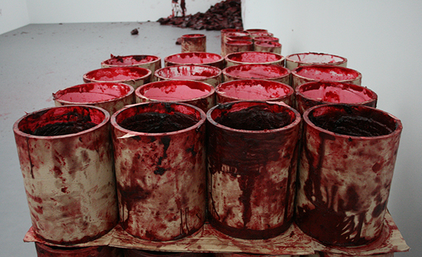 Anish Kapoor - Shooting into the Corner - Mixed Media (detail)