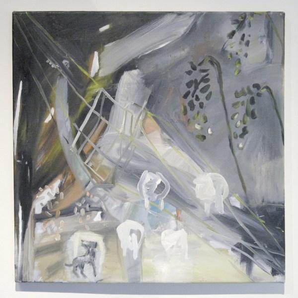 Annabel Emson - Follow Me - 50x50cm Olieverf op canvas