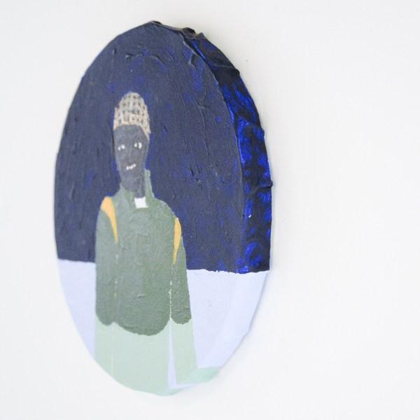 Anne Forest - Imrich (kleurenstudie 1) - 20cm Acrylverf op canvas (detail)