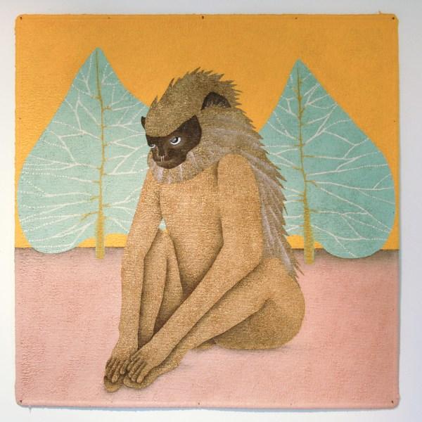 Anne Forest - Lockwood - 93x92cm Acrylverf op tapijt