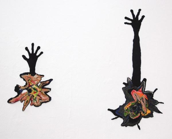 Antoniette Peeters - 1994 & 1994 - 60x38cm & 103x45cm Haakwerk