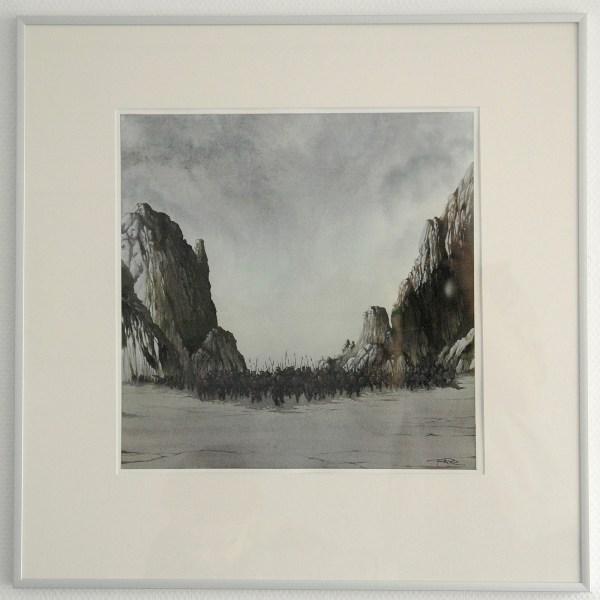 Arik Roper - Goliathan2 - 15x15inch Inkt en gouache op papier