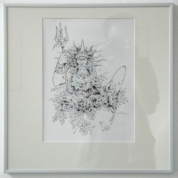 Arik Roper - Poseidon - 9x13inch Inkt op papier