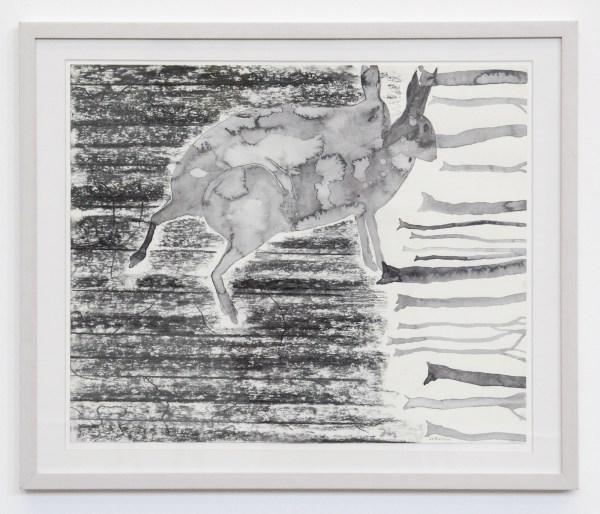 Arno Kramer - Untitled - 43x52cm Waterverf en houtskool op papier 2011