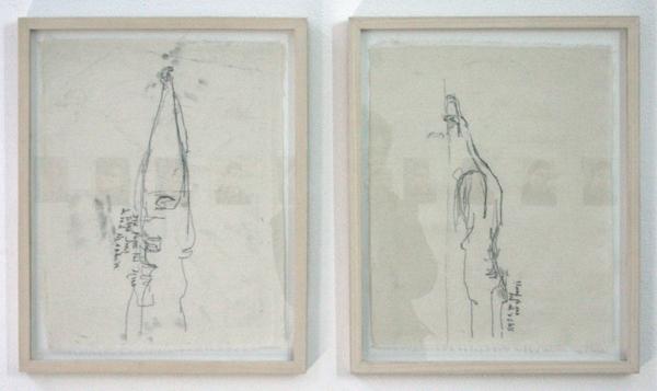 Astrid de Pauw - Wat is er aan de hand - Monoprint op doek