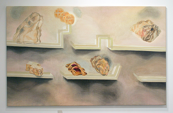 Aukje Koks - Somewhere Between a Rock and a Pudding - 160x100cm Olieverf op linnen